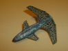 Stingray 3d printed Showing the mottled blue and silver painting.