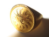Signet Ring - GC 57 - unique - 3d printed Polished Gold Steel