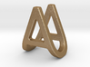 AU UA - Two way letter pendant 3d printed