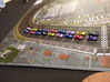 Miniature cars, NASCAR (42 pcs) 3d printed Hand-painted White Strong Flexible. Picture courtesy of DarrellKH on BGG.