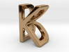 Two way letter pendant - BK KB 3d printed