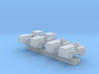 1:350 Scale MD-1 Aircraft Carrier Tow Tractors (4x 3d printed
