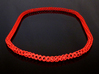Cubichain Necklace 8 (60cm) 3d printed Red