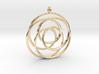 Pendant toroid camelia  3d printed