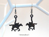 Horse Earrings 3d printed