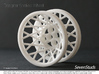 Designer Spoked Wheel 56mm 3d printed