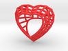 The Heart Diamond Ring / size 6 (16.5 mm diameter) 3d printed