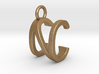 Two way letter pendant - CN NC 3d printed
