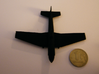 1/160 IL-10 Šturmovik 3d printed The model next to a 1-rouble coin.  By the way, this was taken when the model was at 1/157 scale.  Now that it's slightly smaller, it may not print at all in strong and flexible plastic, just to warn you.