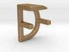 Two way letter pendant - DF FD 3d printed