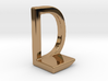 Two way letter pendant - DL LD 3d printed