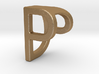 Two way letter pendant - DP PD 3d printed