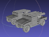 1/144 Humvee SL-AMRAAM moving position (Dual Pack) 3d printed
