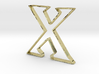 Typography Pendant X 3d printed