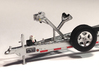 1/87 Myco Trailer 3-axle speedboat-trailer 3d printed Frosted ultra detail with decals and HiSpec rims