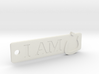 'I Am N' Keychain 3d printed