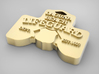 Laguna Beach Insignia Jewerly Charm (thick) 3d printed Laguna Beach's Main Beach Lifeguard Insignia Tower Jewerly Charm