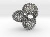 Scherk 7 Voronoi Mesh Pendant - 36mm 3d printed