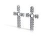 Earrings (Cross) 3d printed