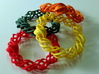 """Thistle"" 11 Seed Chain to close or conect ... 3d printed closed as bracelets"