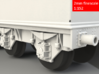 GWR Collett 4000 gal tender, motor cutout, 2mm FS 3d printed Rendering - axle box and spring detail
