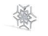 Snowflakes Series III: No. 10 3d printed