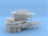 1/200 USS Pennsylvania BB-38 Superstructure 1941 3d printed
