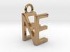 Two way letter pendant - EN NE 3d printed
