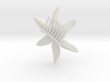Tropical Flower Comb 3d printed