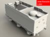 GWR Collett 4000 gal tender, 2mm FS 3d printed Render - rear