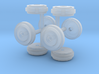 55 Ford Wheel 2 Sets 3d printed