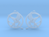 The Hunger Games Logo Earrings 3d printed