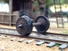 """HO scale 10pc 33"""" Allen Paper Wheel Inserts  3d printed"""