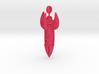 """D"" Rocket Keychain ver 2 3d printed"