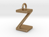 Two way letter pendant - ZZ Z 3d printed