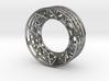Silver Spoke Framework Ring 3d printed