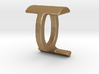 Two way letter pendant - IQ QI 3d printed