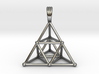 TETRAHEDRON (stage 2) PENDANT 3d printed