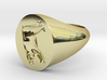Bear Signet Ring (Size 6) 3d printed