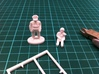 P51 Mustang Pilots,1/56 scale,28mm wargames 3d printed