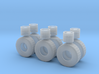 """1/64th Heavy 52"""" Oilfield or Off Road tires, set 1 3d printed"""