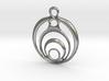 Circles Pendant version #2 3d printed