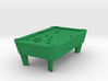 Pool Table - Balls Broke 'O' Scale 3d printed