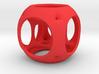 Hypercube-tesseract- pendant 3d printed