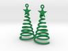 Spiral Christmas Tree w Star Earrings 3d printed