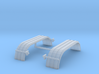 1/87th HO Truck Tandem Fenders ribbed curved 3d printed