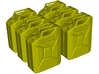 1/24 scale WWII Wehrmacht 20 lt fuel canisters x 6 3d printed