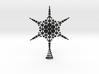 Sparkle Snow Star - Fractal Tree Top - MP4 - M 3d printed