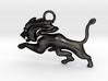Roaming Lion Pendant 3d printed