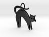 Pretty Kitty Pendant 3d printed